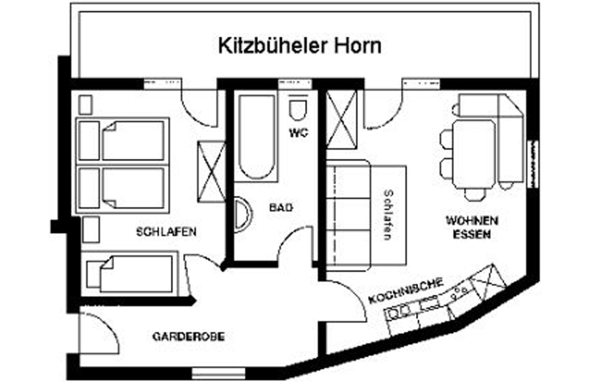 Familienfreundliche Ferienwohnung am Kitzbüheler Horn mit Panoramablick direkt an der Skipiste 5