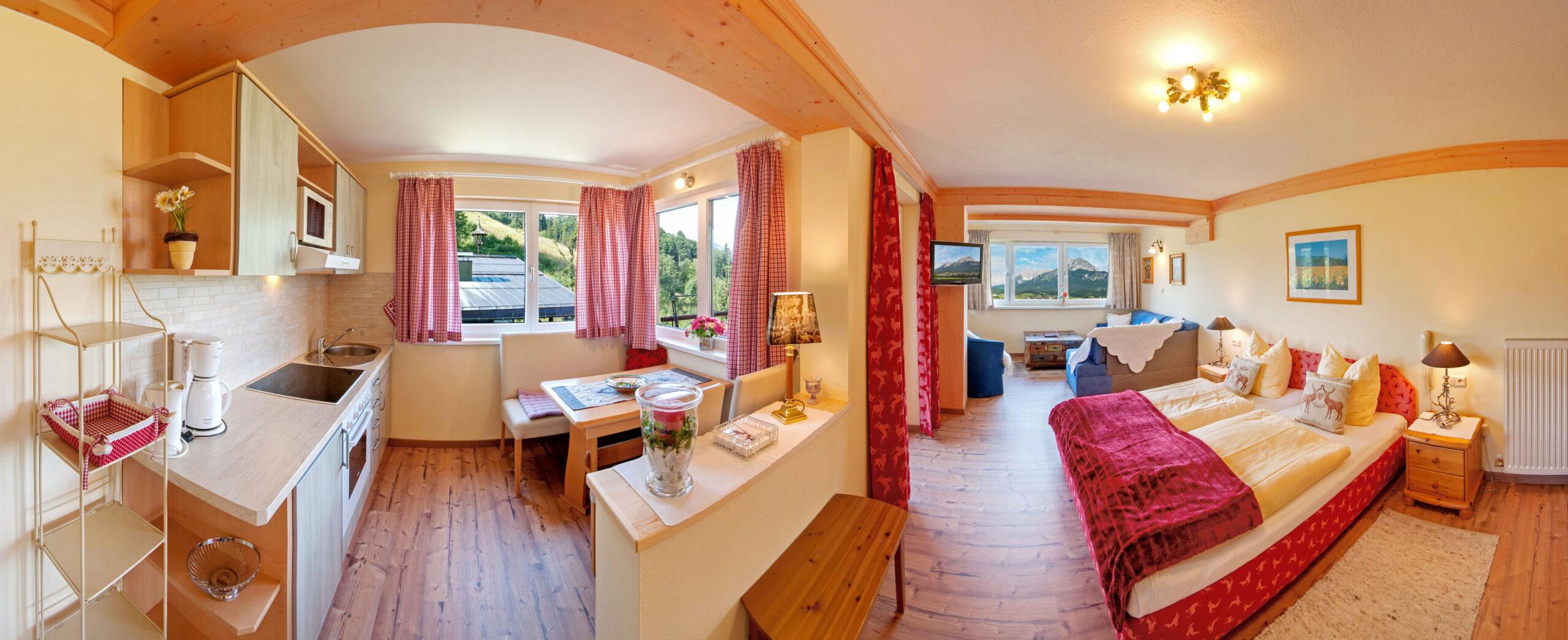 Preiswerte Ferienwohnungen in St. Johann in Tirol mit Ausblick zum Wilder Kaiser