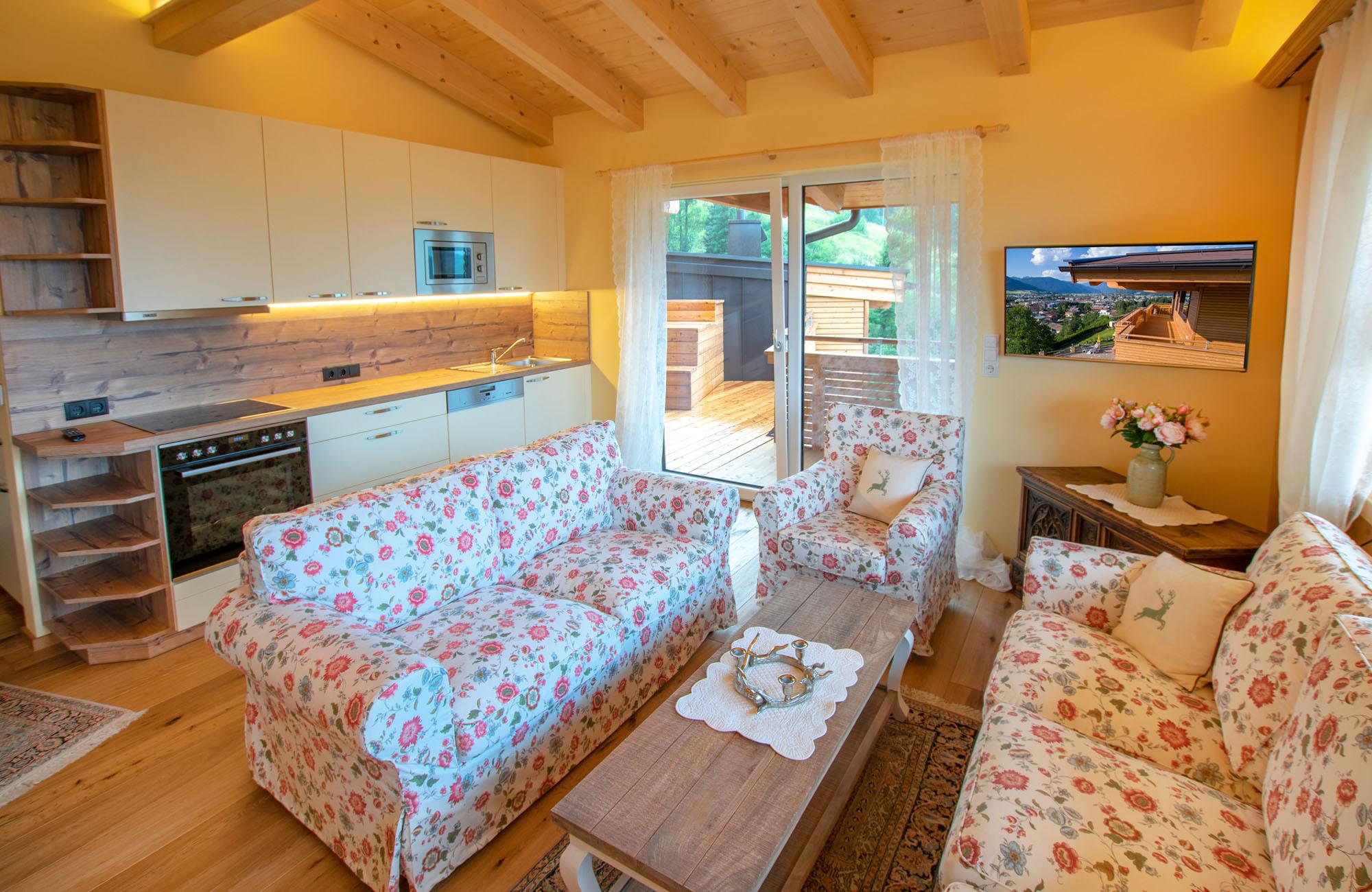 Vollständig eingerichtete Küche im Apartment Kaiser Residenz